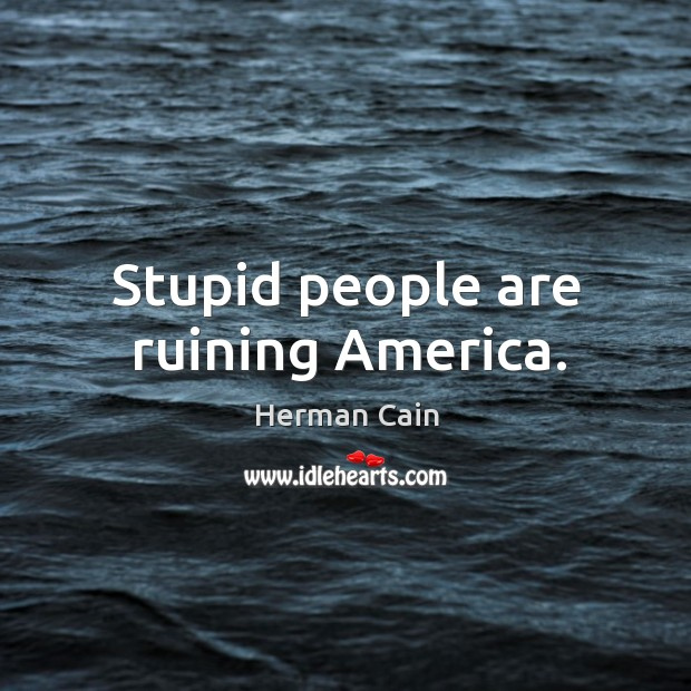 Stupid people are ruining america. Image