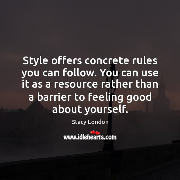 Image, Style offers concrete rules you can follow. You can use it as