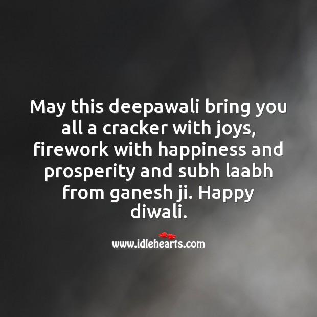 Subh laabh from ganesh ji Diwali Messages Image