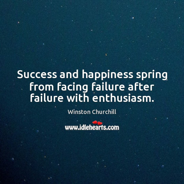 Quotes For Success And Happiness: Winston Churchill Picture Quote: Success And Happiness