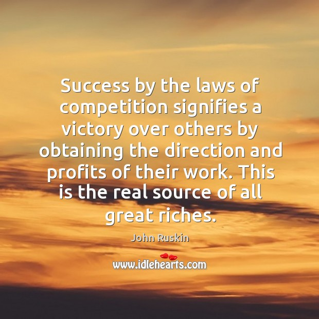 Image, Success by the laws of competition signifies a victory over others by obtaining