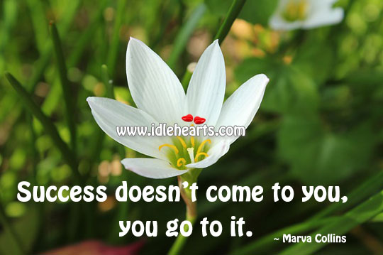 Success Doesn't Come To You, You Go To It.