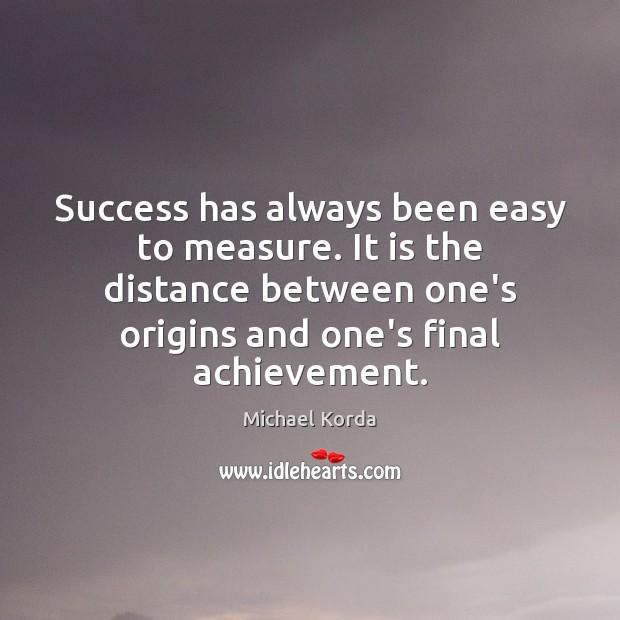 Success has always been easy to measure. It is the distance between Image