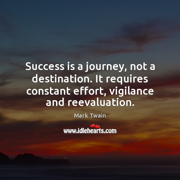 Image, Success is a journey, not a destination. It requires constant effort, vigilance
