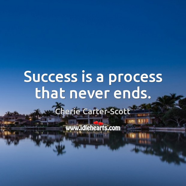 Image, Success is a process that never ends.