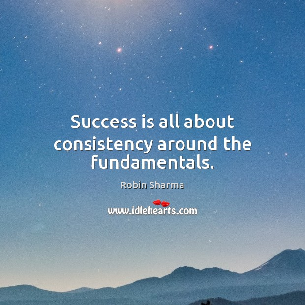 Image, Success is all about consistency around the fundamentals.