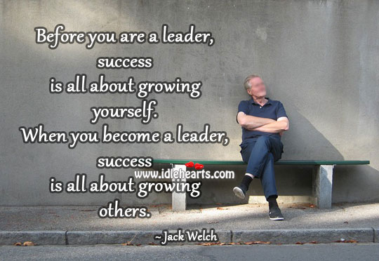 Success is all about growing yourself Image