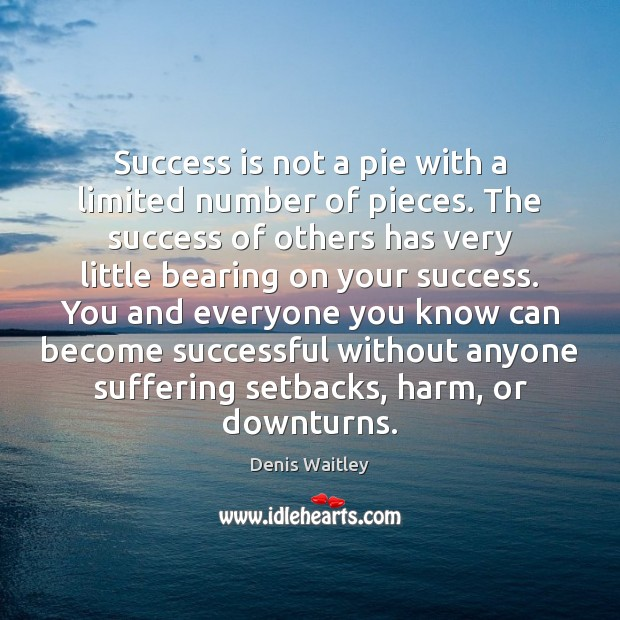 Image, Success is not a pie with a limited number of pieces. The
