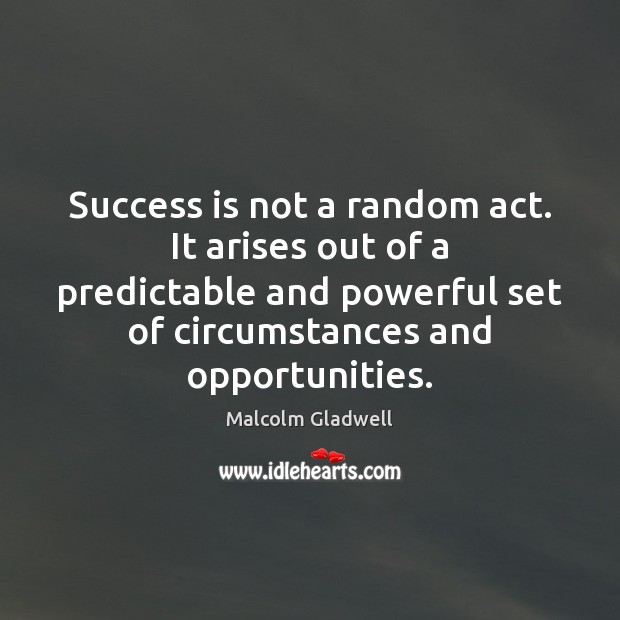 Success is not a random act. It arises out of a predictable Image