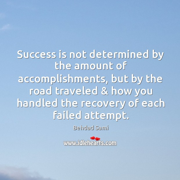 Success is not determined by the amount of accomplishments, but by the Image