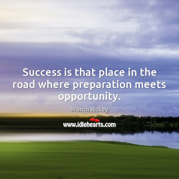 Quote Success Is When Preparation Meets Opportunity: Quotes About Basketball Success / Picture Quotes And