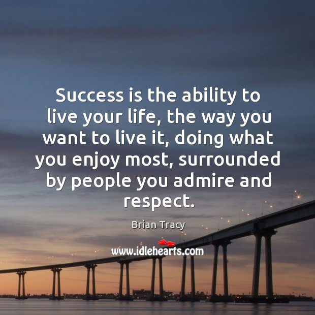 Success is the ability to live your life, the way you want Image