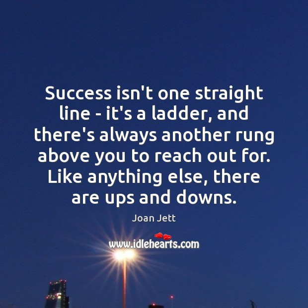 Success isn't one straight line – it's a ladder, and there's always Image