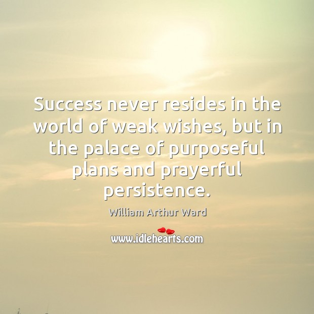 Image, Success never resides in the world of weak wishes, but in the