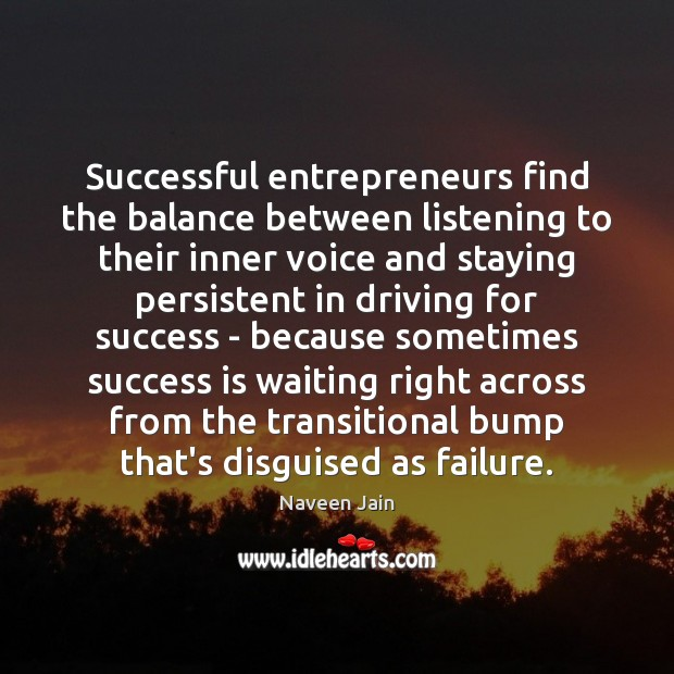 Image, Successful entrepreneurs find the balance between listening to their inner voice and