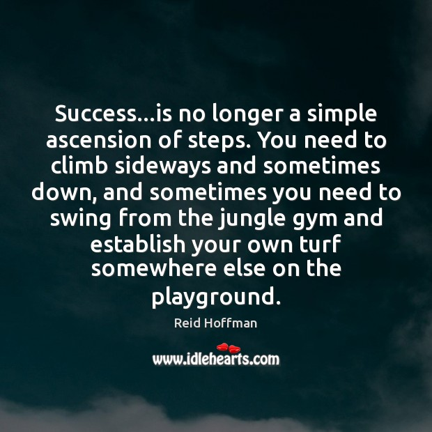 Success…is no longer a simple ascension of steps. You need to Reid Hoffman Picture Quote