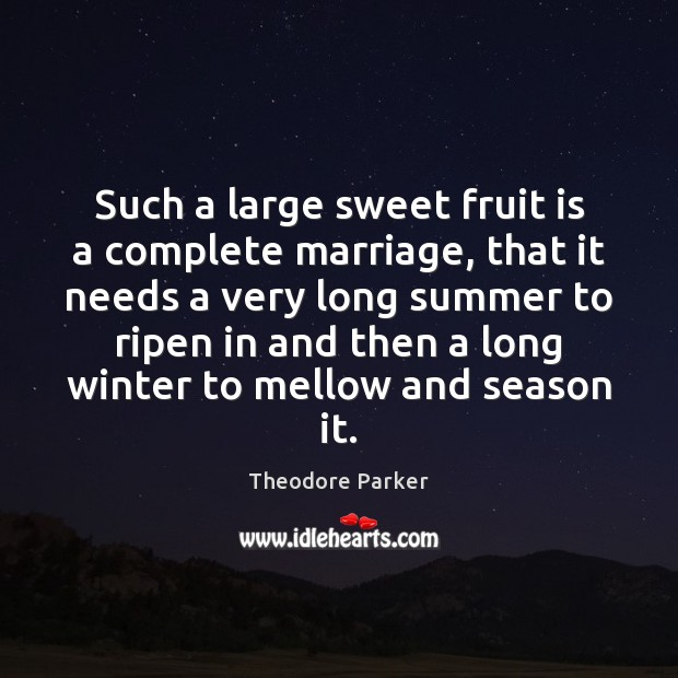 Such a large sweet fruit is a complete marriage, that it needs Winter Quotes Image