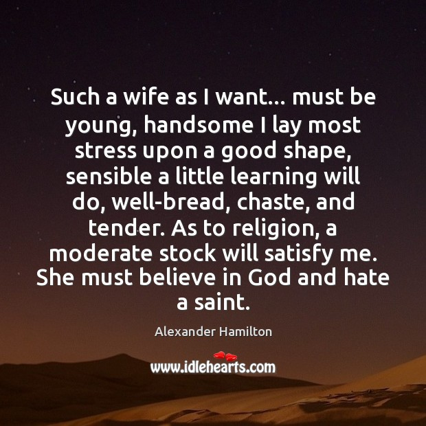 Such a wife as I want… must be young, handsome I lay Image