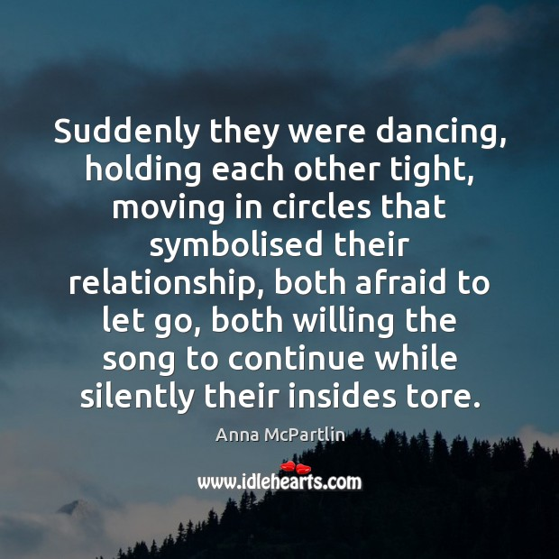 Suddenly they were dancing, holding each other tight, moving in circles that Image