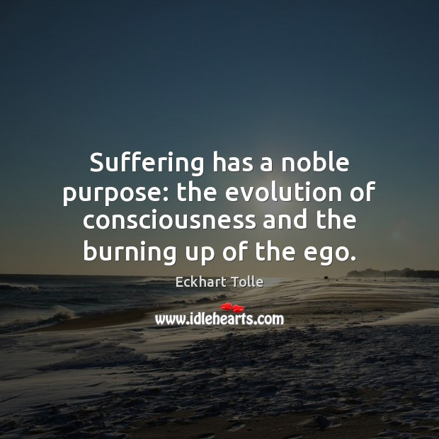 Suffering has a noble purpose: the evolution of consciousness and the burning Image