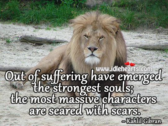 Suffering Have Emerged The Strongest Souls