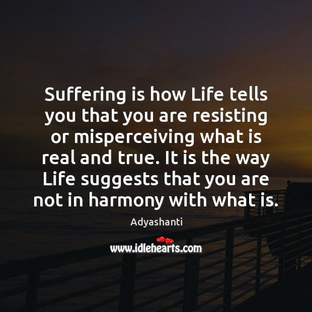 Image, Suffering is how Life tells you that you are resisting or misperceiving