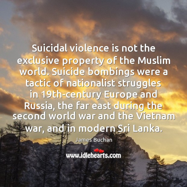 Suicidal violence is not the exclusive property of the Muslim world. Suicide Image