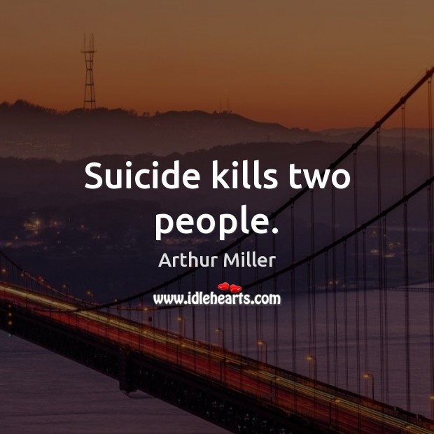 Suicide kills two people. Image