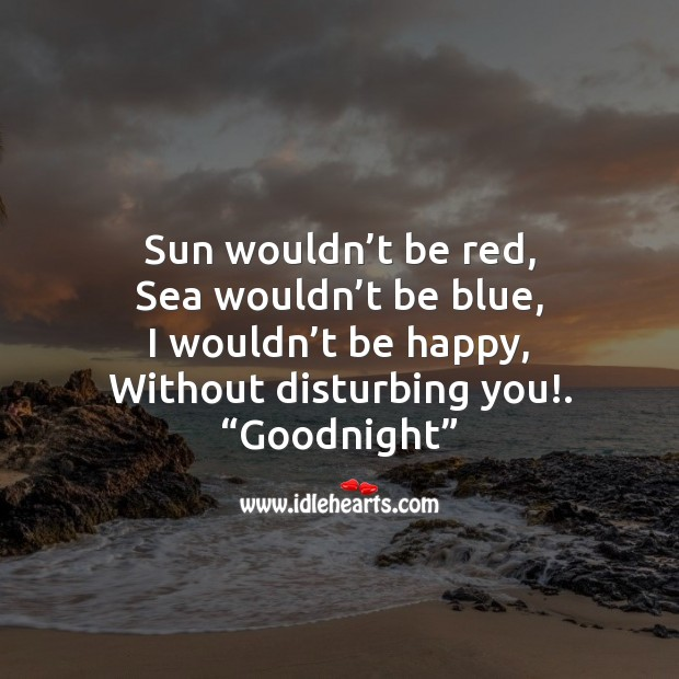 Image, Sun wouldn't be red, sea wouldn't be blue