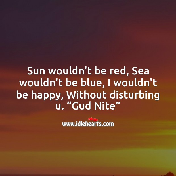 Sun wouldn't be red Good Night Messages Image