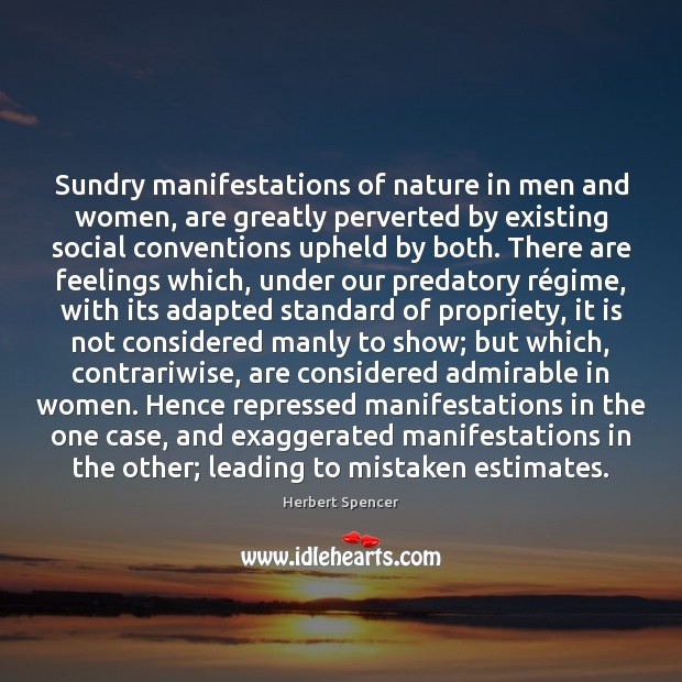 Sundry manifestations of nature in men and women, are greatly perverted by Image