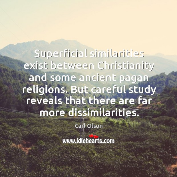 Image, Superficial similarities exist between christianity and some ancient pagan religions.