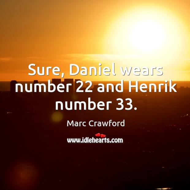 Sure, Daniel wears number 22 and Henrik number 33. Image