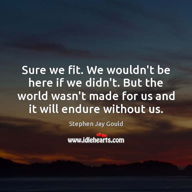 Sure we fit. We wouldn't be here if we didn't. But the Image