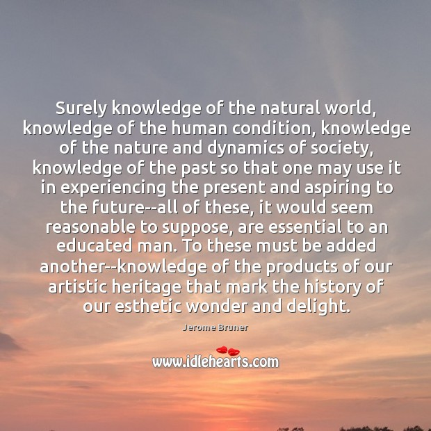 Image, Surely knowledge of the natural world, knowledge of the human condition, knowledge