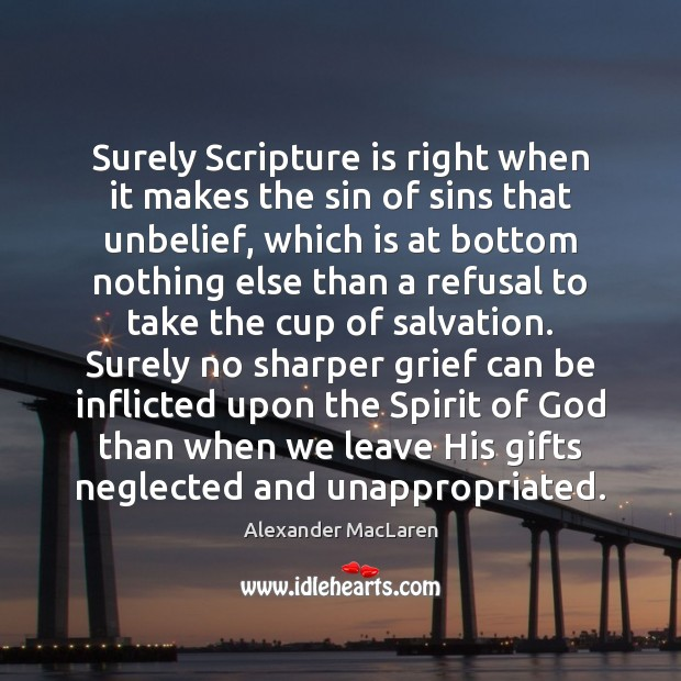 Image, Surely Scripture is right when it makes the sin of sins that