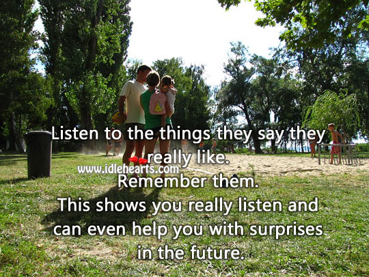 Listen to the things they say Relationship Tips Image