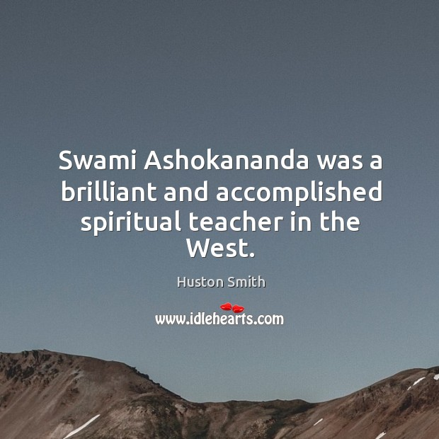 Swami Ashokananda was a brilliant and accomplished spiritual teacher in the West. Image