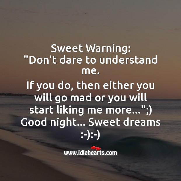 Sweet warning Image