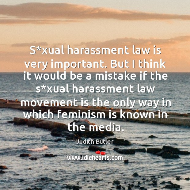 S*xual harassment law is very important. Image