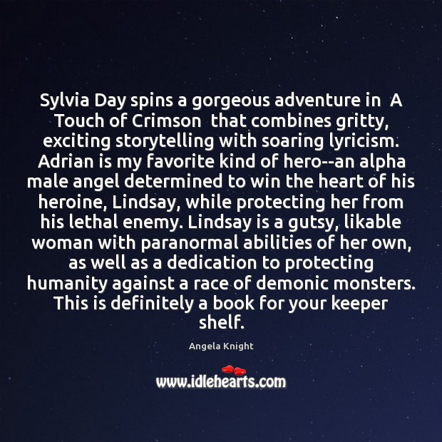 Image, Sylvia Day spins a gorgeous adventure in  A Touch of Crimson  that