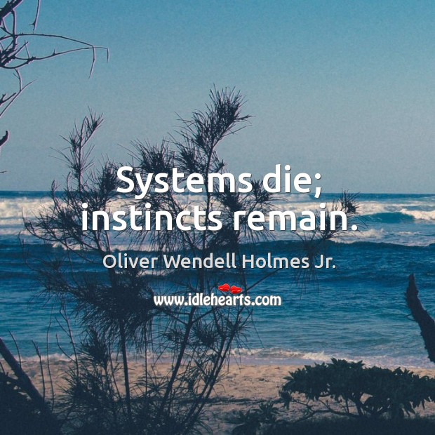 Systems die; instincts remain. Image