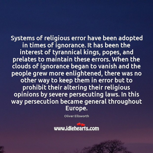 Systems of religious error have been adopted in times of ignorance. It Image