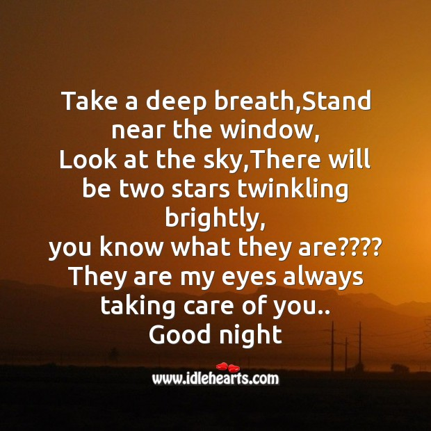 Take a deep breath,stand near the window Image