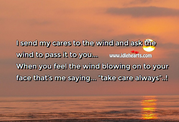 I send my cares Care Messages Image