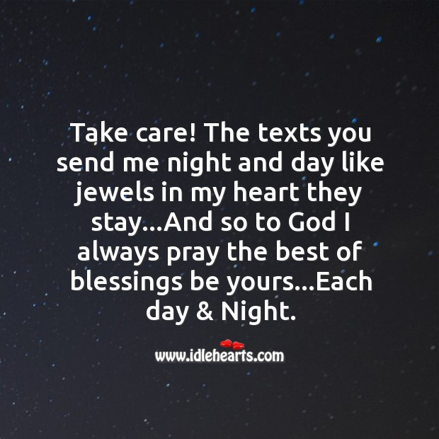 Take care! the texts you Good Night Messages Image