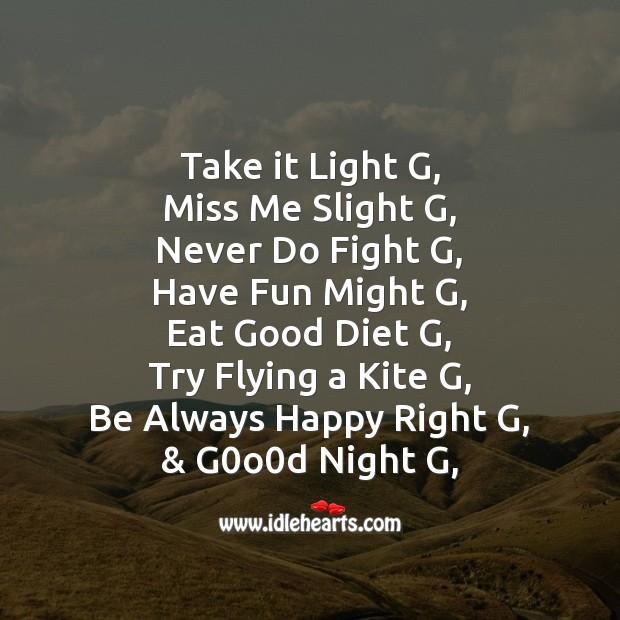 Image, Take it light