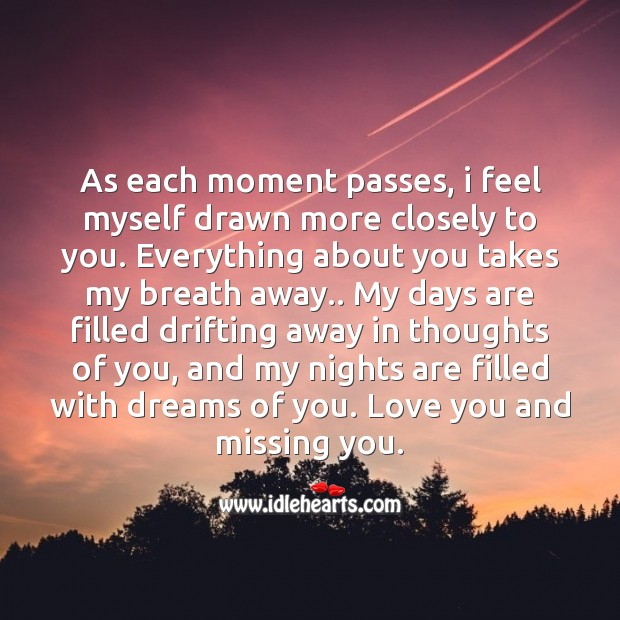 Takes my breath away Missing You Quotes Image