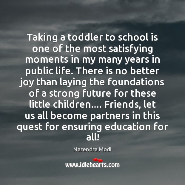 Image, Taking a toddler to school is one of the most satisfying moments