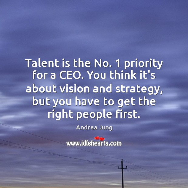 Talent is the No. 1 priority for a CEO. You think it's about Priority Quotes Image